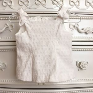 CUTE! Janie and Jack Dressy Top 3-6m bow shoulders